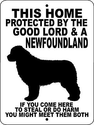 NEWFOUNDLAND  DOG GUARD  Aluminum Sign GLNEWF