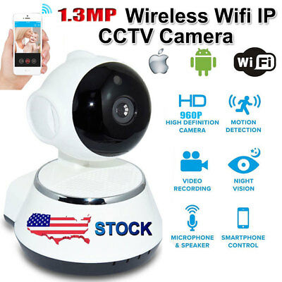 Wireless 960P 1.3MP WiFi Camera Pan Tilt Network Home CCTV IP HD Night Vision se