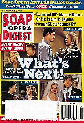 Soap Opera Digest Magazine - November 24, 1998 - Mark Mortimer, Amelia Marshall