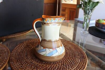 Art Deco Early 1900's Clarice Cliff Inspired Son And Co Made In England Jug