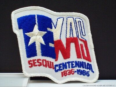 Vintage Texas Sesquicentennial Patch 150 Anniversary 1986 Official Logo Badge