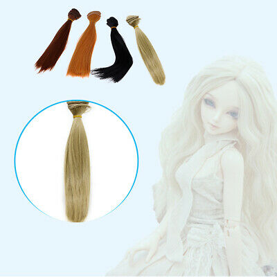 1pc Long Straight Hair Wig DIY Making Supply For BJD Doll Girl's Princess Gift