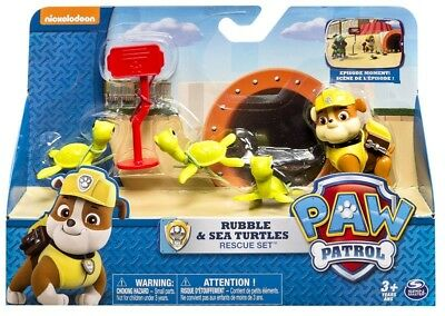 PAW PATROL Set Figures RUBBLE Saver Turtles Rescue Playset SPIN MASTER Turtles