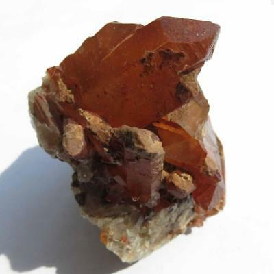 Red Hematite Included Quartz Crystal Cluster From Izizauen Alnif, Morocco  Rq147
