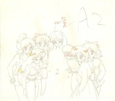 Anime Genga not Cel Sailor Moon 2 pages #1137