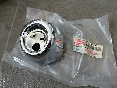 Yamaha Exhaust End Cap CHROMBLENDE YQ50 Aerox Partion Silencer Original New