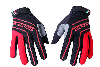 SOBIKE Full Finger Bicycle Cycling Riding Gloves Sports Gloves Long Red Unisex