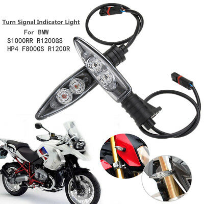 2x Motorcycle LED Turn Signal Indicator Light For BMW S1000RR HP4 F800GS R1200GS