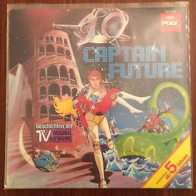 Captain Future LP Hörspiel Science Fiction TV Serie Fernsehen Figuren 70er 80er
