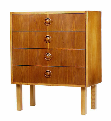 SMALL 1960's OAK AND TEAK SCANDINAVIAN CHEST OF DRAWERS