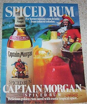 1983 advertising page - Captain Morgan Puerto Rican Spiced RUM pirate PRINT AD