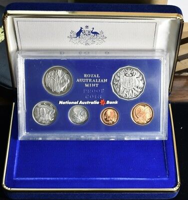 1981 Australia With Box & Coa - 6 Coin Proof Set