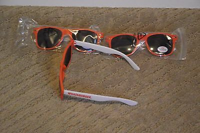 Whataburger Fast Food Sunglasses NEW, Orange and White LOT OF 3 *FREE SHIP*