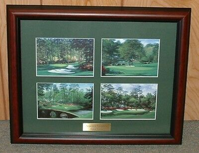 "Framed Augusta National golf print collage MASTERS - 13"" x 16""  overall size"