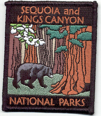 Sequoia and Kings Canyon National Parks Souvenir Patch  Bear