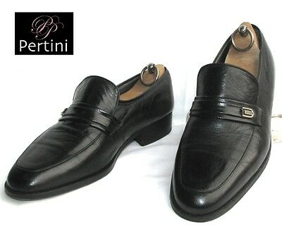 PERTINI - MOCCASIN black leather 40.5 - VERY GOOD CONDITION