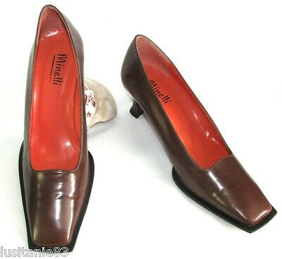 Minelli - Shoes Vintage all Brown Leather 37 - Very Good Condition