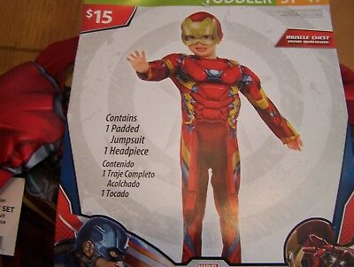 New Iron Man Captain America Halloween Costume Toddler 3T-4T
