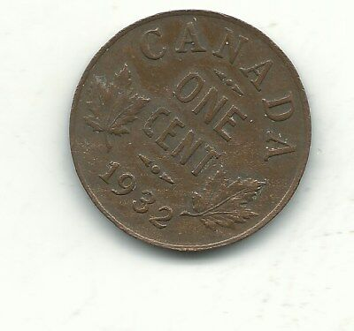 A High Grade Vf/xf Condition 1932 Canada Small One Cent-Jan331