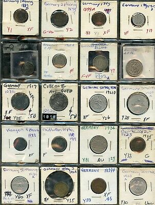 Germany Lot Of 20  Circulated Coins  You Do The Grading Have Fun Bidding