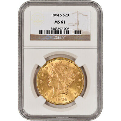 US Gold $20 Liberty Head Double Eagle - NGC MS61 - Random Date