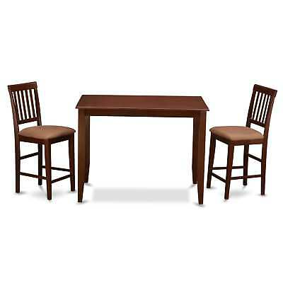 Mahogany Table and 2 Dinette Chairs 3-piece Dining Set