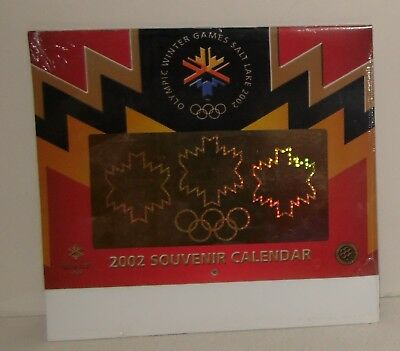 2002 Winter Olympics Souvenir Calendar Salt Lake City Utah