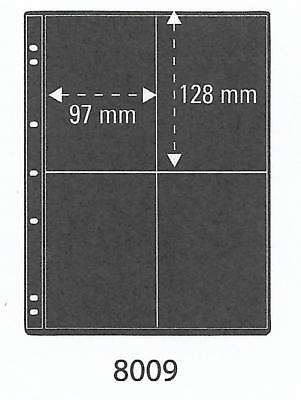 PRINZ PRO-FIL 4 STRIP BLACK STAMP ALBUM STOCK SHEETS Pack of 5 Ref No: 8009