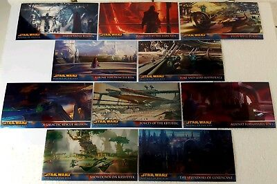 REVENGE OF SITH  Widevision CARD CHROME a SET retail STAR WARS (10)