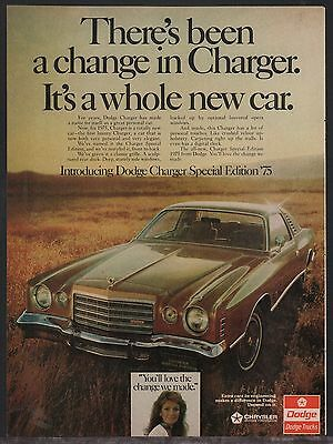 1975 DODGE Charger Special Edition '75 Classic Car Photo AD**