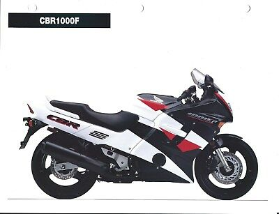 Motorcycle Brochure - Honda - CBR1000F - Competitor Analysis 1994 2 items(DC564)