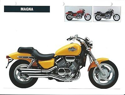 Motorcycle Brochure - Honda - Magna - Competitor Analysis - 1994 2 items (DC574)