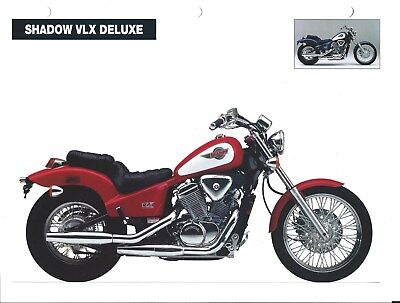 Motorcycle Data Sheet - Honda Shadow VLX Deluxe Competitor Analysis 1994 (DC581)