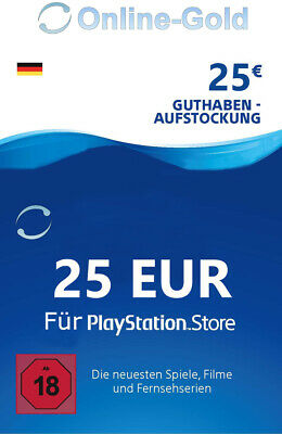 PSN Network Card 25 Euro PS3 PS4 PS Vita PlayStation Gift Prepaid Code 25€ - DE