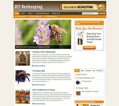 Bee Keeping Secrets Website Blog With Affiliate Store & Banners + New Domain