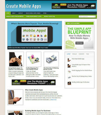 Create Mobile Apps Website Affiliate Store & Blog With Domain & Hosting