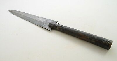 Spear Knife Pig Hunting Wild Antique Vintage Damascus Steel Iron Portugal 1920's