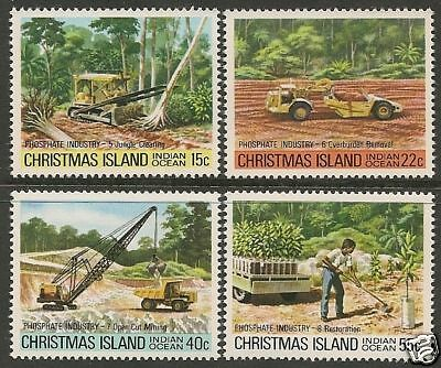 CHRISTMAS IS 1980 PHOSPHATE INDUSTRY Part 2 4v  MNH