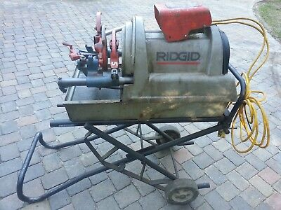 RIDGID 1822.1 PIPE THREADER Bench 110v Folding Trolley Stand & Foot Switch