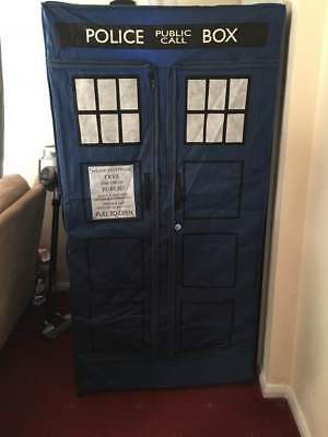 Doctor Who Tardis wardrobe / play tent (RARE) no frames just the tent & TARDIS Canvas Wardrobe - Zipperobe - Dr Who - Almost 6FT TALL ...