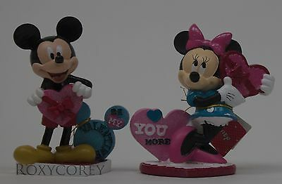 Valentine's Day Disney Mickey Minnie Mouse Figure with Be My Valentine You More