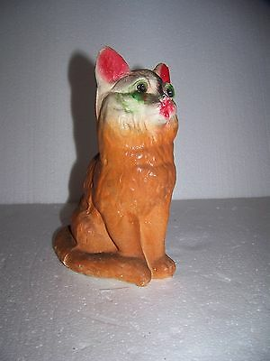Early Vintage/Antique Chalkware Plaster Cat Carnival Prize