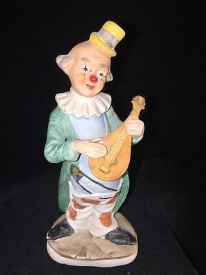 Vintage Porcelain Clown Figurine, 7 Inches Tall, Made in Korea