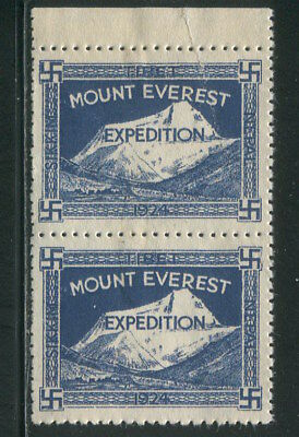 India 1924 Mount Everest Expedition Pair MNH Full Gum stamp High Quality REPLICA