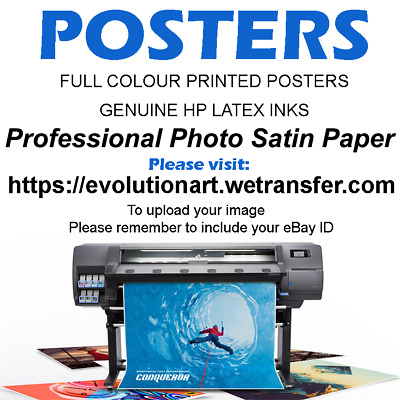 POSTER PRINTING HP Photo Satin Paper HP Latex Inks A0 A1 A2 A3 A4 Custom Print