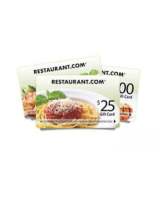 New $25 Gift Card Restaurants In USA NO Expiration American,Chinese,Mexican, ETC