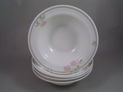 """Royal Doulton Twilight Rose Hotel Ware 6 3/8"""" Rimmed Cereal Bowl X 4."""