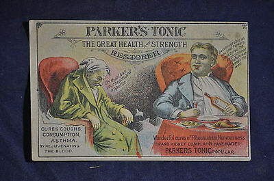 Parkers Tonic The Great Health and Restorer Tonic Victorian Card