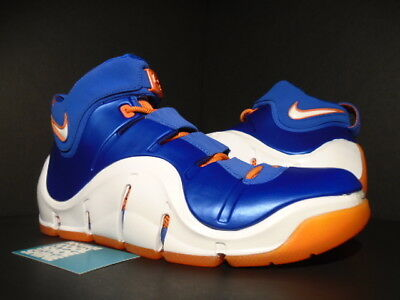 4393fee1f5f8 2006 Nike Zoom Lebron Iv 4 Birthday New York Knicks Royal Blue Orange White  11