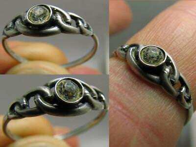 INTERESING ! AUTHOR'S WORK ! VINTAGE STERLING SILVER RING with STONE !# 123